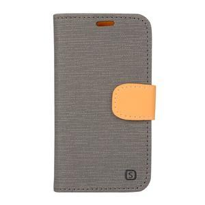 Covers puzdro pre mobil Samsung Galaxy Core Prime - šedé - 1
