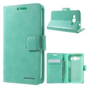 Moonleather PU kožené puzdro pre Samsung Galaxy Core Prime - azúrové - 1