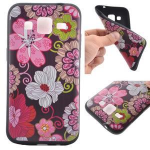 Hardy gélový obal pre mobil Samsung Galaxy Core Prime - kvetinová koláž - 1