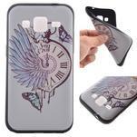 Hardy gelový obal na mobil Samsung Galaxy Core Prime - antické hodiny - 1/6