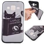 Hardy gélový obal pre mobil Samsung Galaxy Core Prime - mačička čte - 1/6