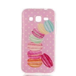 Softy gélový obal Samsung Galaxy Core Prime - makrónky - 1