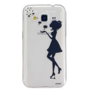 Transparentný gélový obal pre Samsung Galaxy Core Prime - dievča pampelišek - 1