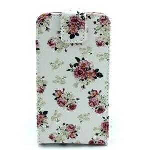 Flipové puzdro pre mobil Samsung Galaxy Core Prime - kvety - 1