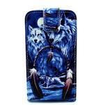 Flipové puzdro pre mobil Samsung Galaxy Core Prime - magický vlci - 1/7