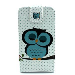 Flipové puzdro pre mobil Samsung Galaxy Core Prime - sova - 1