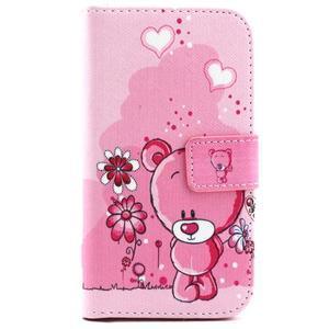 Medvídek peňaženkové puzdro pre Samsung Galaxy Core Prime - 1