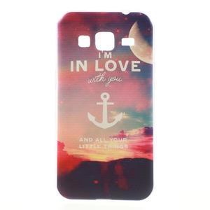 Gelový obal na Samsung Galaxy Core Prime - kotva lásky - 1