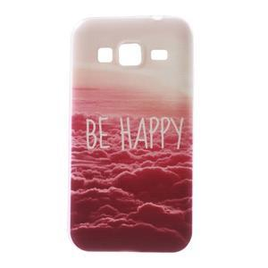 Gelový obal na Samsung Galaxy Core Prime - be happy - 1