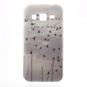 Gelový obal na Samsung Galaxy Core Prime - létající ptáci - 1