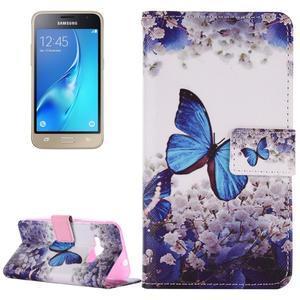 Emotive koženkové puzdro pre Samsung Galaxy J1 (2016) - motýlek - 1
