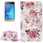 Emotive koženkové puzdro pre Samsung Galaxy J1 (2016) - koláž kvetin - 1/5