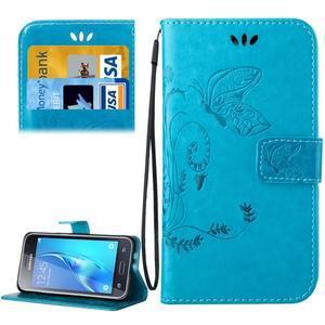 Magicfly PU kožené pouzdro na mobil Samsung Galaxy J1 (2016) - modré - 1