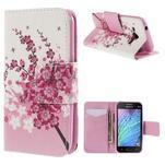 Zapínací puzdro pre Samsung Galaxy J1 - kvitnúca vetvička - 1/7