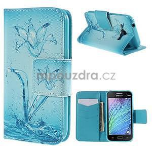 Zapínací puzdro pre Samsung Galaxy J1 - vodní kvetina - 1