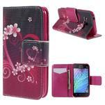 Zapínací puzdro pre Samsung Galaxy J1 - květinové srdce - 1/7
