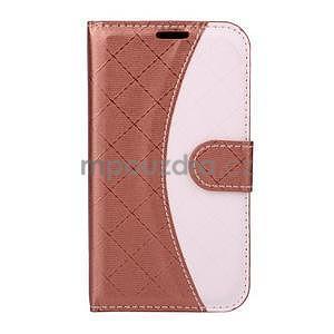 Elegantné puzdro na Samsung Galaxy J1 - hnedé - 1
