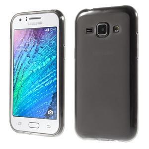 Matný gélový obal na Samsung Galaxy J1 - šedý - 1