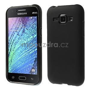 Čierny matný kryt pre Samsung Galaxy J1 - 1