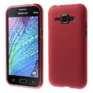 Červený matný kryt pre Samsung Galaxy J1 - 1