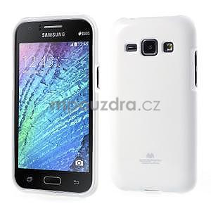 Biely gélový obal pre Samsung Galaxy J1 - 1