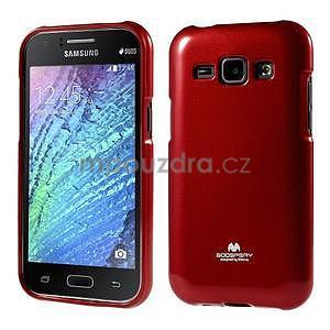 Červený gélový obal na Samsung Galaxy J1 - 1