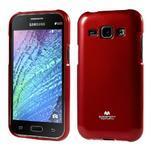 Červený gélový obal pre Samsung Galaxy J1 - 1/5