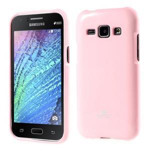 Ružový gélový obal pre Samsung Galaxy J1 - 1