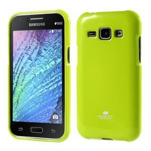 Zelený gélový obal pre Samsung Galaxy J1 - 1