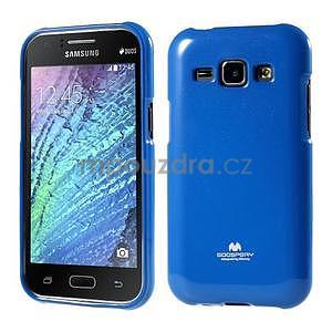 Modrý gélový obal na Samsung Galaxy J1 - 1