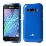 Modrý gélový obal na Samsung Galaxy J1 - 1/5
