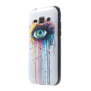 Gélový kryt pre Samsung Galaxy J1 - farebné oko - 1