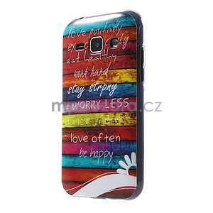 Gélový kryt na Samsung Galaxy J1 - farby dřeva - 1