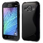 Čierny gélový s-line obal Samsung Galaxy J1 - 1/5