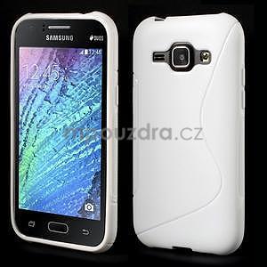 Biely gélový s-line obal Samsung Galaxy J1 - 1