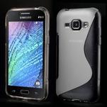Transparentní gélový s-line obal Samsung Galaxy J1 - 1/3