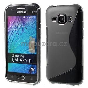 Šedý gélový s-line obal Samsung Galaxy J1 - 1
