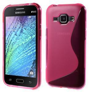 Rose gélový s-line obal Samsung Galaxy J1 - 1