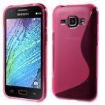 Rose gélový s-line obal Samsung Galaxy J1 - 1/5