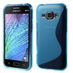 Modrý gélový s-line obal Samsung Galaxy J1 - 1/5