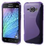 Fialový gélový s-line obal Samsung Galaxy J1 - 1/5