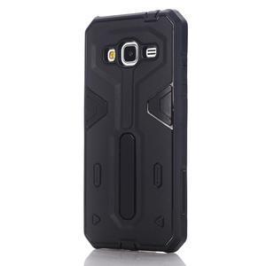 High outdoor odolný kryt pre mobil Samsung Galaxy J3 (2016) - čierný - 1
