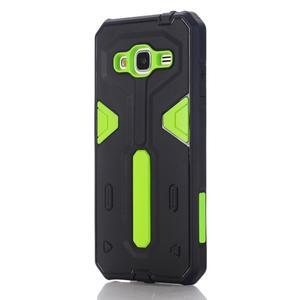 High outdoor odolný kryt pre mobil Samsung Galaxy J3 (2016) - zelený - 1