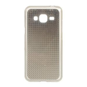 Diamond gélový obal pre mobil Samsung Galaxy J3 (2016) - šedý - 1