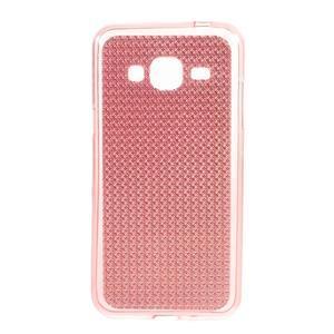 Diamond gelový obal na mobil Samsung Galaxy J3 (2016) - růžový - 1