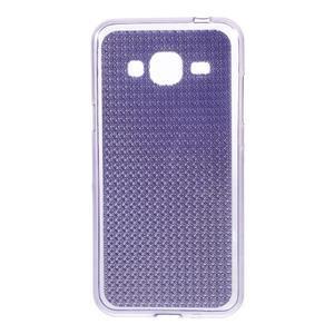 Diamond gelový obal na mobil Samsung Galaxy J3 (2016) - fialový - 1