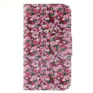 Standy peněženkové pouzdro na Samsung Galaxy J5 - růže - 1