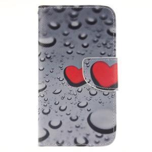 Standy peňaženkové puzdro pre Samsung Galaxy J5 - srdca - 1