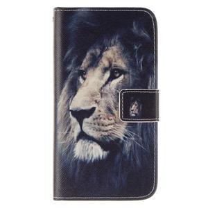 Standy peňaženkové puzdro pre Samsung Galaxy J5 - lev - 1