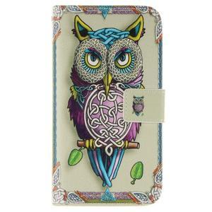 Standy peňaženkové puzdro pre Samsung Galaxy J5 - sova - 1